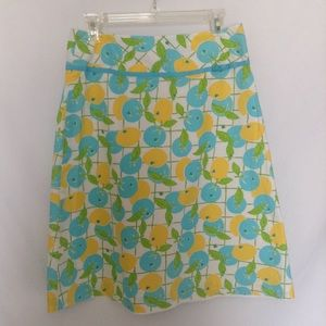 Lilly Pulitzer Skirt Sz 6 White Citron